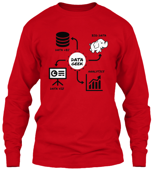 Data +Bi Big Data Data Geek Data Viz Analytics  Long Sleeve T-Shirt Front