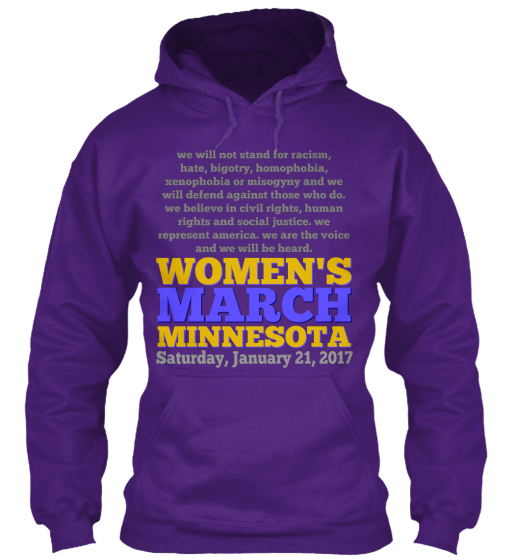 Women's March Minnesota Saturday, January 21 ,2017 Sweatshirt Front