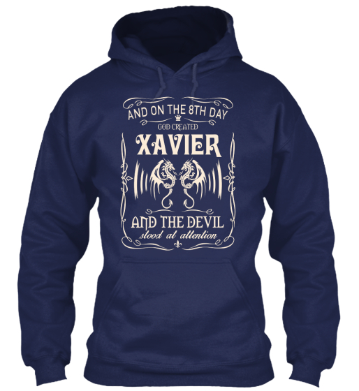 8 Th Day God Created Xavier Sweatshirt Front