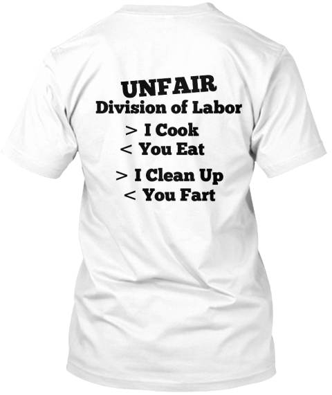 division of household labor essay 5 2 the unfair division of household labor is more likely to be perceived as unfair by individuals with nontraditional gender attitudes, which in turn has negative impact on.