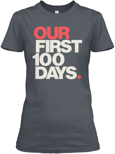 Our First 100 Days (Grey) Heavy Metal Women's T-Shirt Front