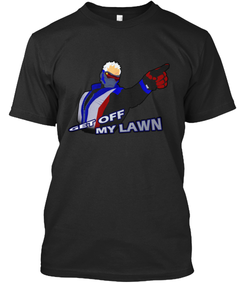 Get Off My Lawn T-Shirt Front