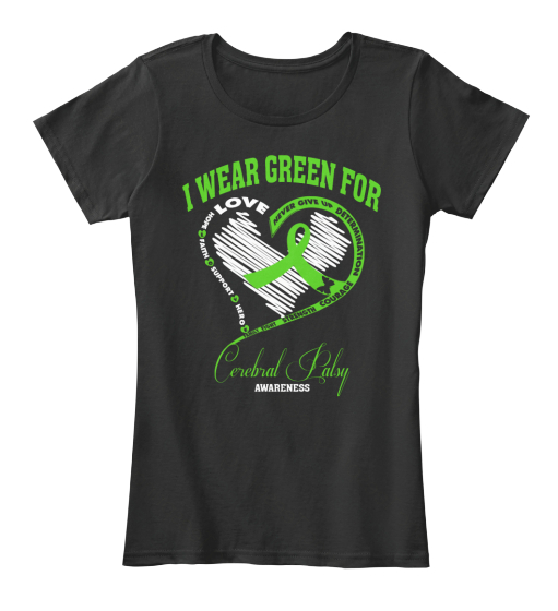 I Wear Green For Cerebral Palsy Women's T-Shirt Front