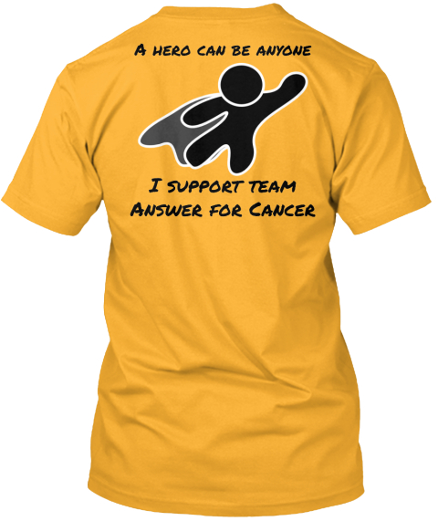 Answer for cancer official shirt hero products teespring for I support two teams t shirt