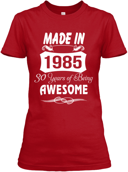 Made In 1985 - 30 Years Of Being Awesome