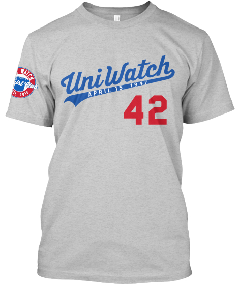 Uni Watch T-Shirt Club: Jackie Robinson