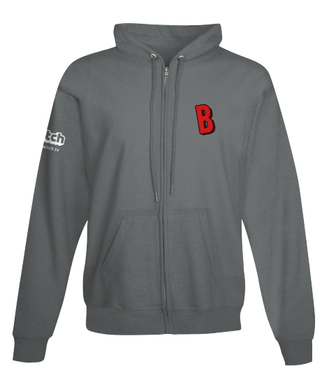 Official Bisnap Logo Zip-Up Hoodie