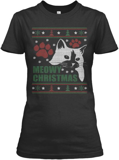Women - Meowy Ugly Christmas