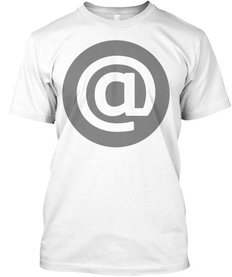 Email Icon - White On Grey - T-Shirt