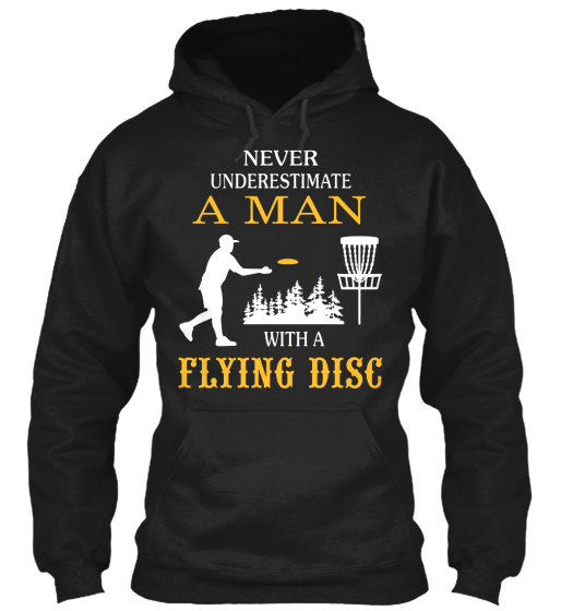 A Man With A Flying Disc - T-Shirt