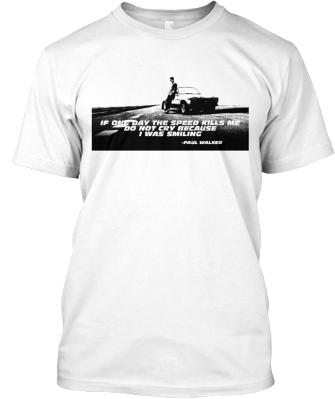 Paul Walker Tribute Tee Shirt