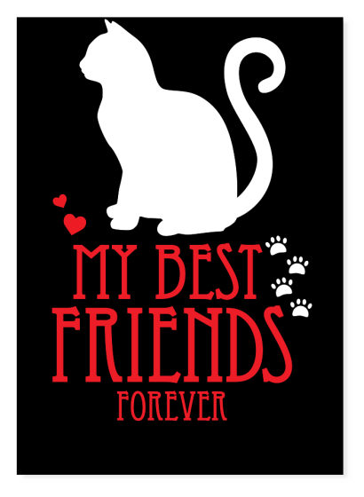 Cat is my best friends forever