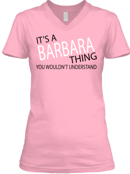 ITS A BARBARA THING
