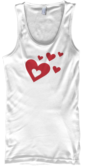 Yoga Fitness Tank Top Red Hearts