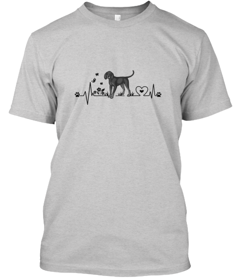 Black And Tan Coonhound Heartbeat - T-Shirt