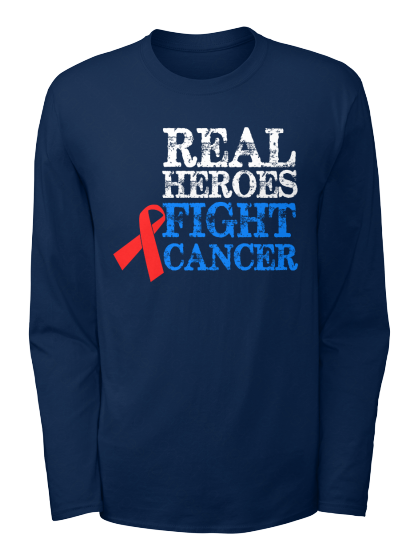 Real Heroes Fight Cancer - T-Shirt