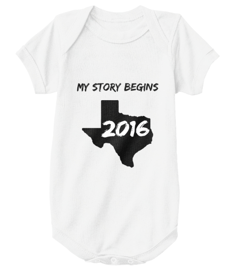 My Story Begins 2016 T-Shirt Front