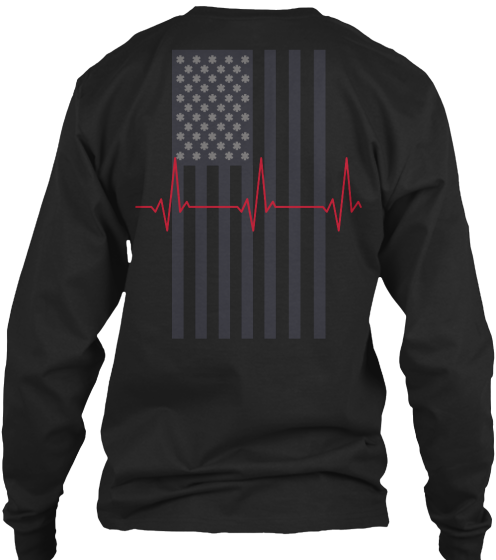 Heartbeat Ems Flag Tee - T-Shirt