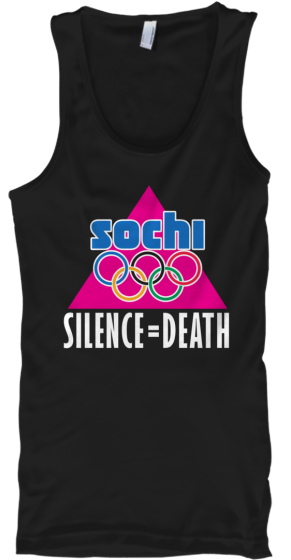 Sochi Olympic LGBT Protest tee-shirt
