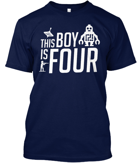 This Boy Is Four T-Shirt Front