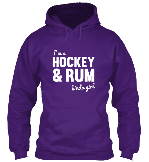 Hockey And Rum Hoodie Sweatshirt Front