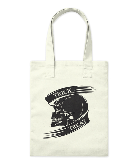 Trick Treat Natural Tote Bag Front