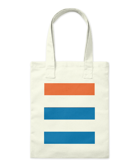 Stripy Tote Bag Natural Tote Bag Front