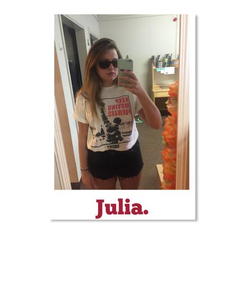 Julia. White Sticker Front