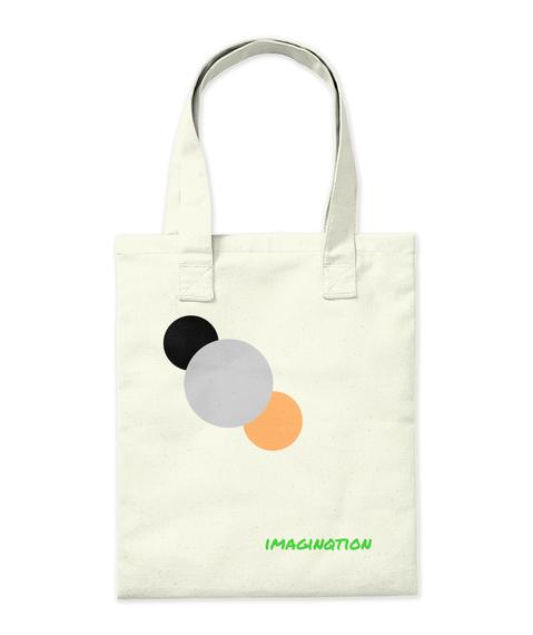 Imaginqtion Natural Tote Bag Back