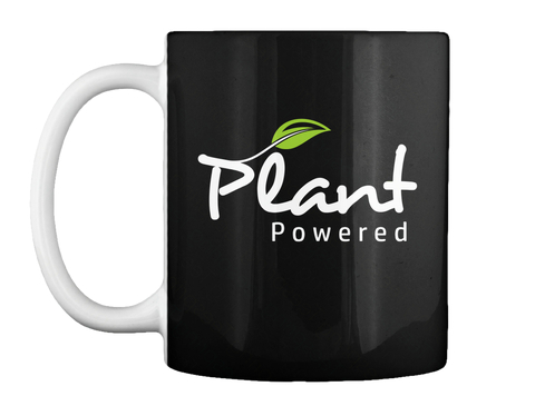 Plant Powered Black Mug Front