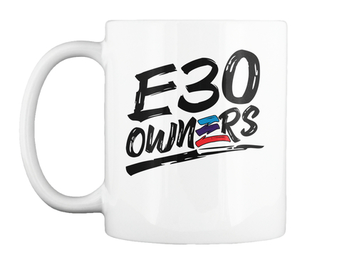 E30 Owners White Mug Front