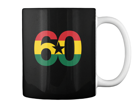 """Freedom And Justice"" Mug   Black Black Mug Back"
