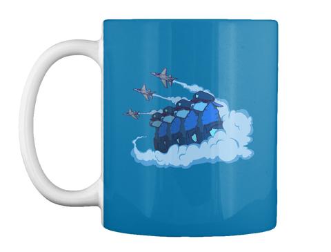 Alpacapatrol Official Eu Mug Campaign Royal Blue T-Shirt Front
