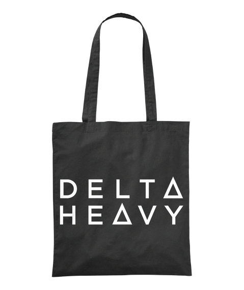 Delta Heavy Black Tote Bag Front