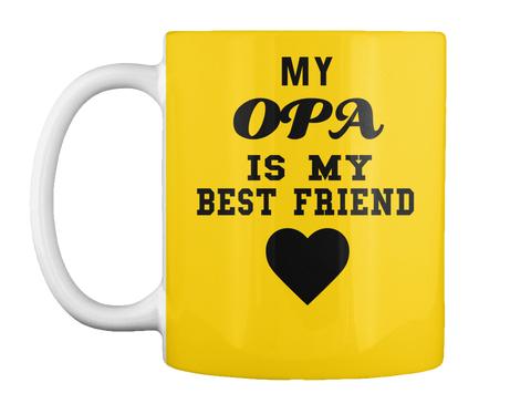 My Opa Is My Best Friend Lemon Yellow Mug Front