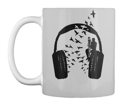 Headphone   Contrabassoon  Light Grey Mug Front