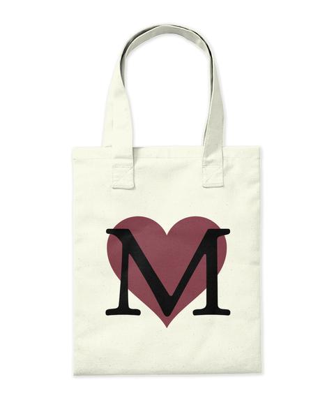 M Natural Tote Bag Back