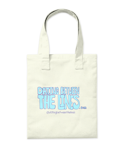 Dating Between The Lines.Com @Datingbetweenthelines Natural Tote Bag Back