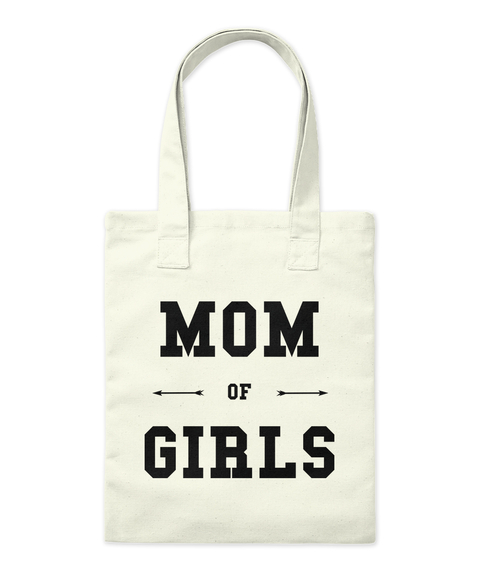 Mom Of Girls Natural Tote Bag Front