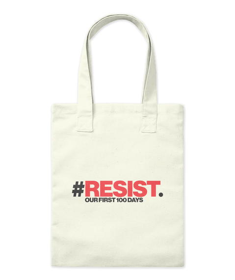 Resist Tote Natural Tote Bag Front