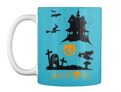 Rip Happy Halloween Turquoise Mug Front