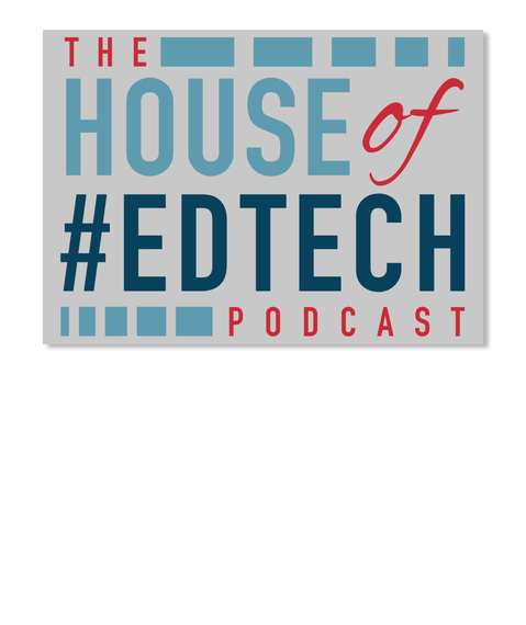 House Of #Ed Tech Laptop Sticker Lt Grey Sticker Front