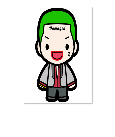 Jared Leto Joker 2 White Sticker Front