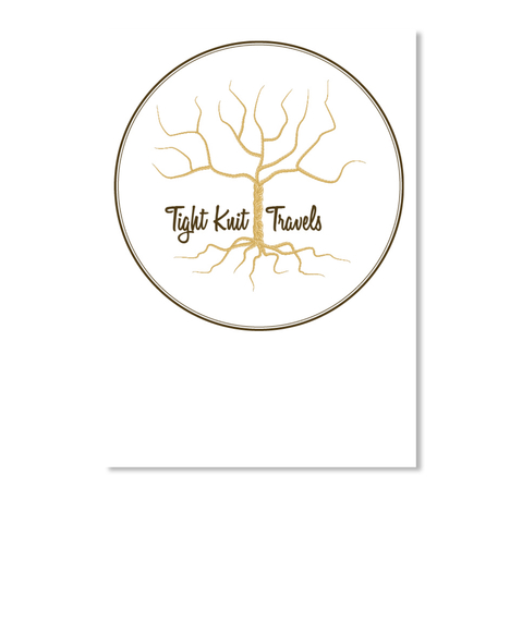 Tight Knit Travels White Sticker Front