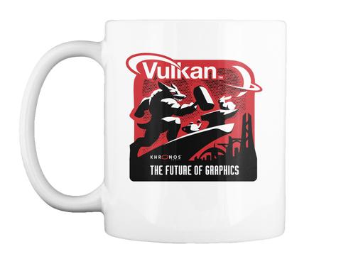Vulkan Khronos The Future Of Graphics White Mug Front