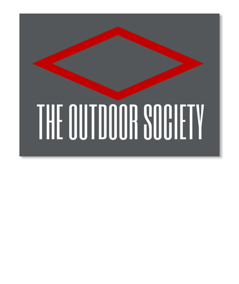 The Outdoor Society  Dk Grey Sticker Front