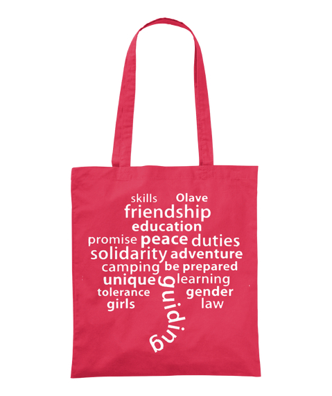 Skills Olave Friendship Education Promise Peace Duties Solidarity Adventure Camping Be Prepared Unique Learning... Canberry T-Shirt Front