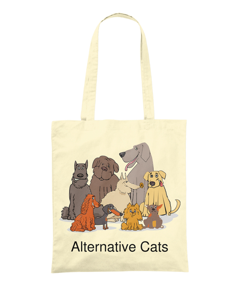 Alternative Cats Natural Tote Bag Front