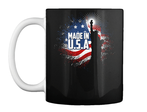 Made In U.S.A Black Mug Front