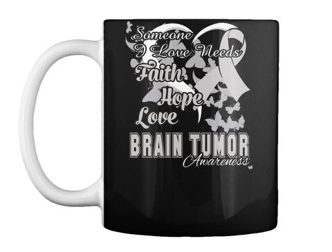 Brain Tumor Awareness Ribbon Mug Black Mug Front